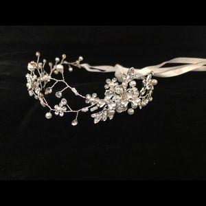 Flower Crystal Crown Wreath